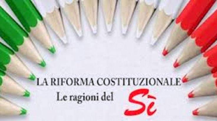Il convinto SI alla riforma costituzionale