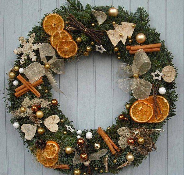 Guirlandas de Natal com frutas secas