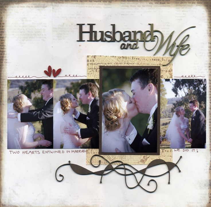 Husband and Wife ~ lovely use of multiple photos.