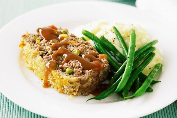 cooking arts : Beef and vegetable meatloaf