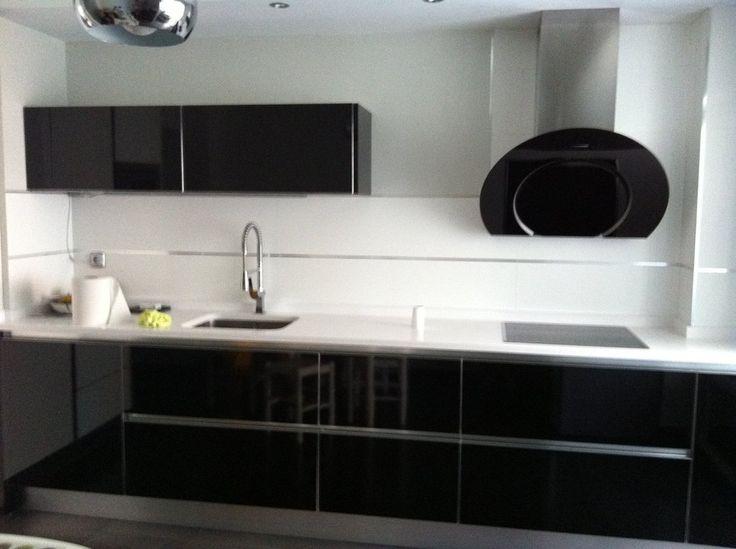 Azulejos para cocina a mitad de pared buscar con google - Paredes de cocina sin azulejos ...