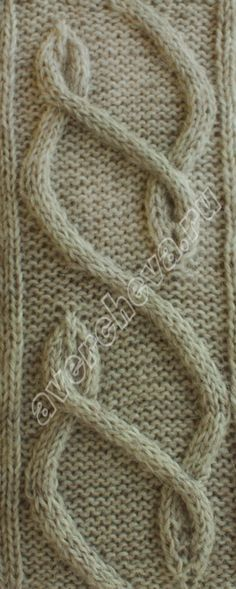 аранские полосы - cable knitting stitch