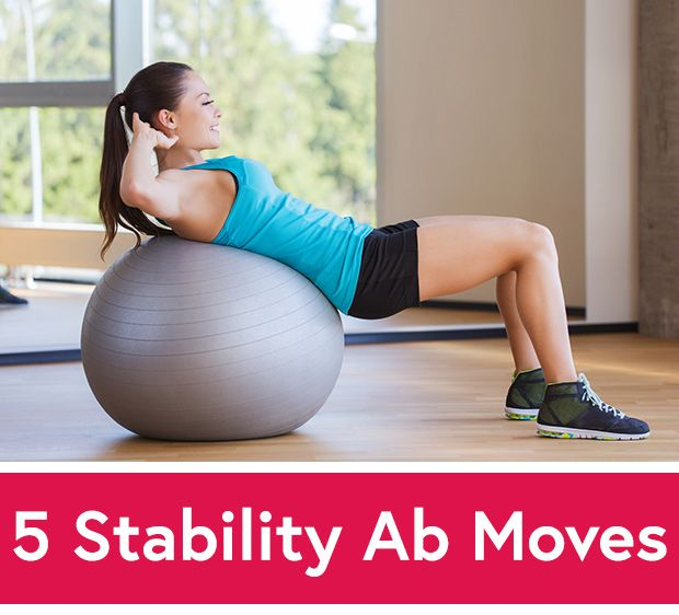 5 Stability Ball Exercises for Crazy Strong Abs