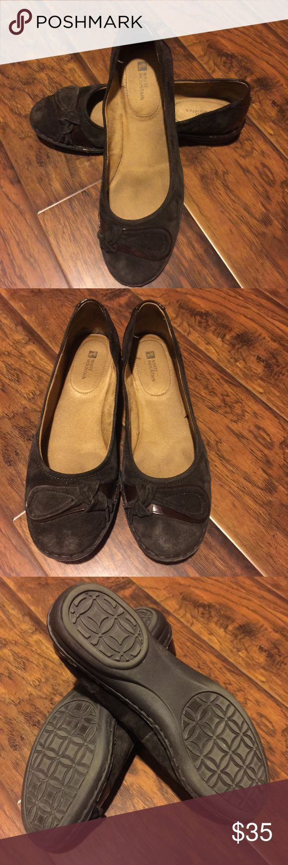 Cute brown flats EUC   Brown flats, White mountain shoes ...