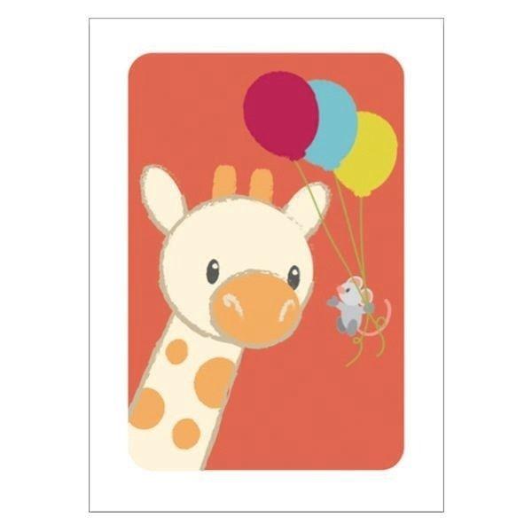 Poster Giraf feest A4