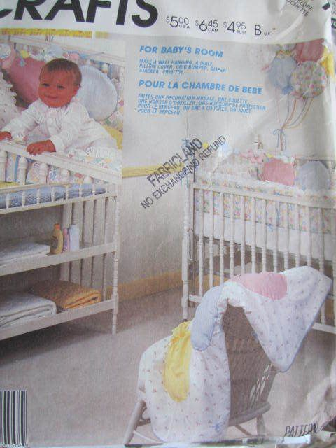 SeeSallySew.com - Baby Room Quilt Sham Toy Wall Hanging Diaper Stacker McCall's 2291 Pattern , $8.00 (http://stores.seesallysew.com/baby-room-quilt-sham-toy-wall-hanging-diaper-stacker-mccalls-2291-pattern/)