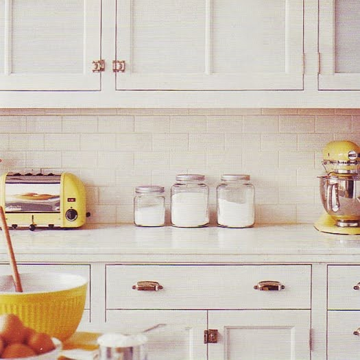 Yellow Tiles For Kitchen: 55 Best Images About Navy & Yellow In The Kitchen On