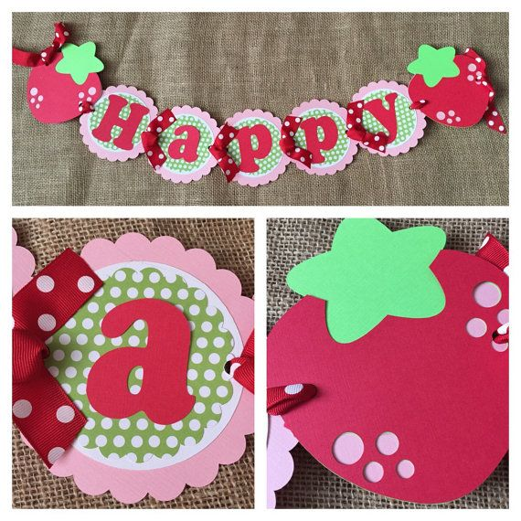 Hey, I found this really awesome Etsy listing at https://www.etsy.com/listing/236449276/strawberry-birthday-banner-strawberry
