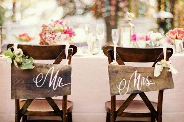 Letreros para decorar la boda #bodas #ElBlogdeMaríaJosé #Tendenciasboda #Decoración