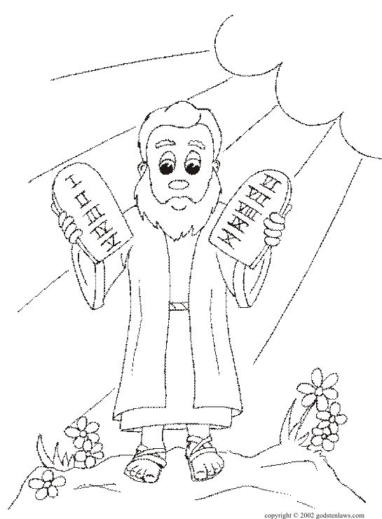 Free Printable Ten Commandments Coloring Pages