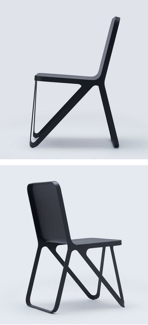 Powder coated steel #chair LOOP CHAIR by NEO/CRAFT #black @NEOCRAFT_Berlin
