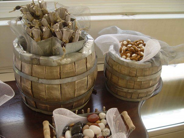 Barrels of chocolate and delicious cookies. OUT OF STOCK, but similar styles available.