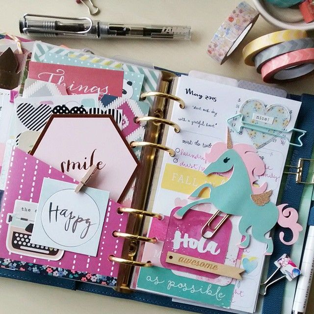 Planners Ideas and Accessories ❤ carladetaboada: Love to open my daily page to a bunch of inspiration Happy Saturday my sweet friends! #thecreativeplannerworkshop