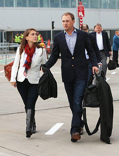 Jordan Spieth and his girlfriend Annie Verret