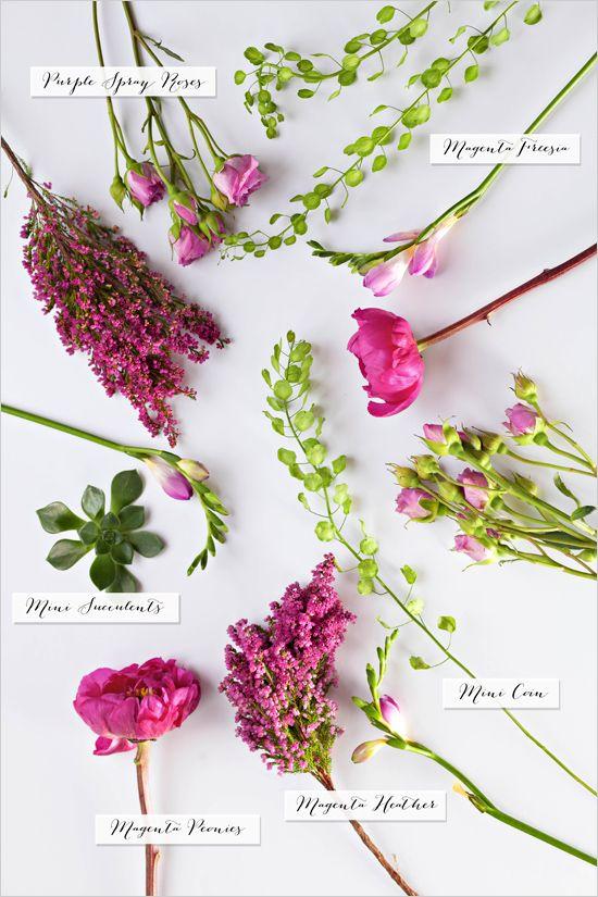 magenta bouquet recipe #diybouquet #bouquetrecipe #weddingchicks http://www.weddingchicks.com/2014/03/31/diy-magenta-wedding-bouquet/
