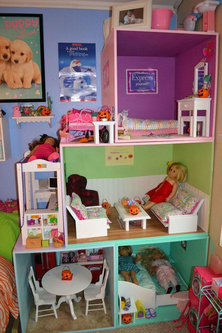 Diy american girl doll furniture - Friday Favorites American Girl Doll House Edition