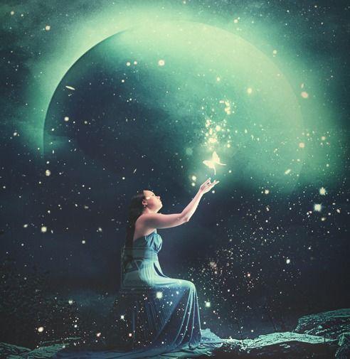 夜空に光のエフェクトを加える方法