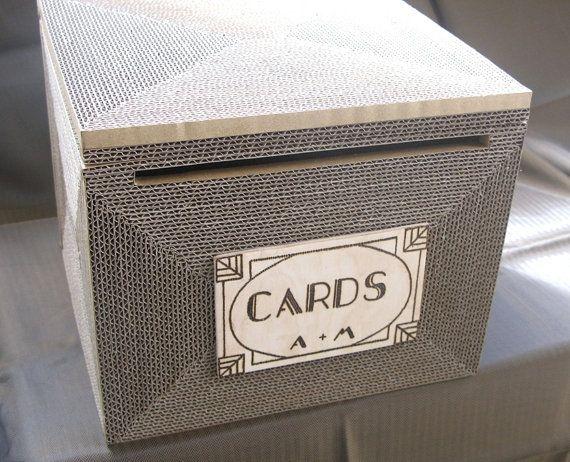 Gatsby Wedding card box mail card box MEDIUM Rustic от ByNaturelle