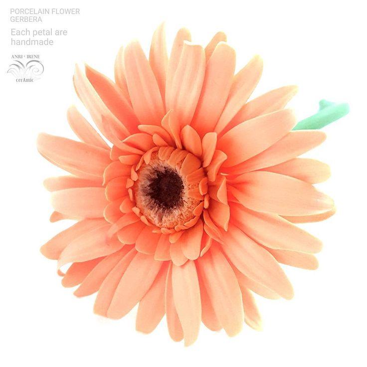 Handmade porcelain flowers, botanical sculpture. Mandarin  mood  High firing  colored…»