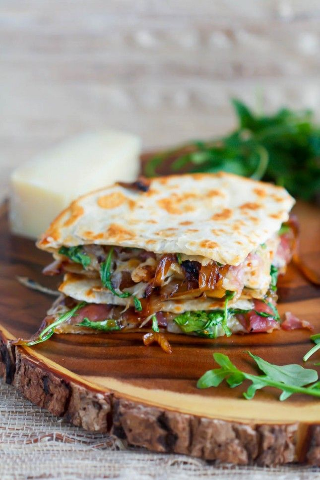 Caramelized Onion, Prosciutto + Fig Quesadilla.