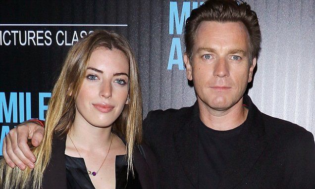 Ewan McGregor is upstaged by pretty daughter Clara, 20