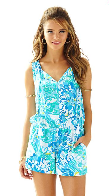 Lilly Pulitzer Tybee Sleeveless Romper - In A Pinch