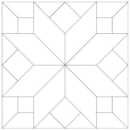 Printable Quilt Block Patterns Quilt Block 7 Blank
