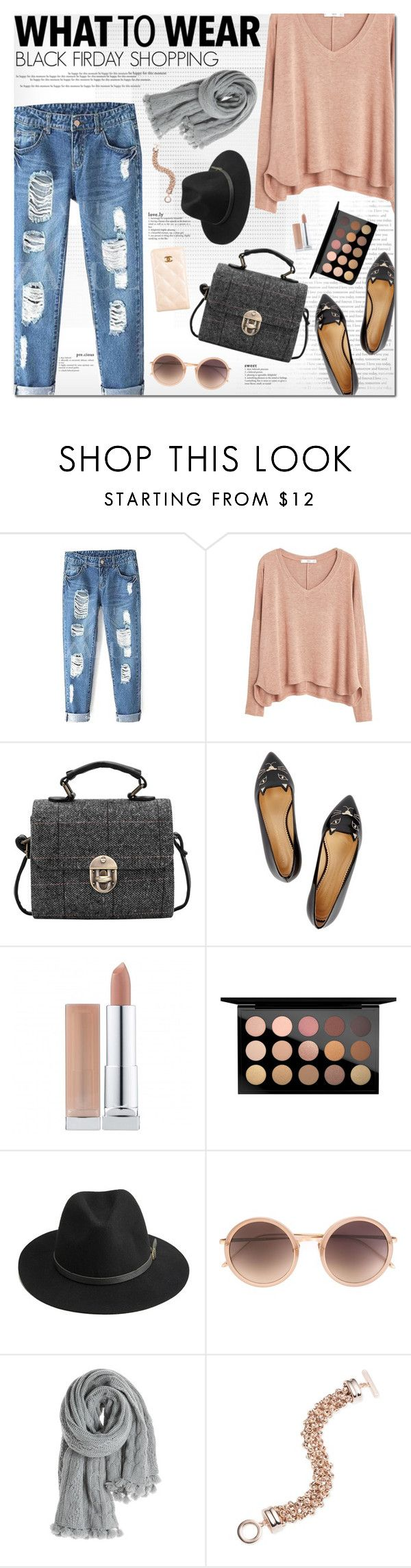 """""""What to Wear: Black Friday Shopping   20 Nov 2015"""" by kristinksn ❤ liked on Polyvore featuring MANGO, Charlotte Olympia, MAC Cosmetics, BeckSöndergaard, Linda Farrow, Calypso St. Barth, Anne Klein, Chanel and shoptilyoudrop"""