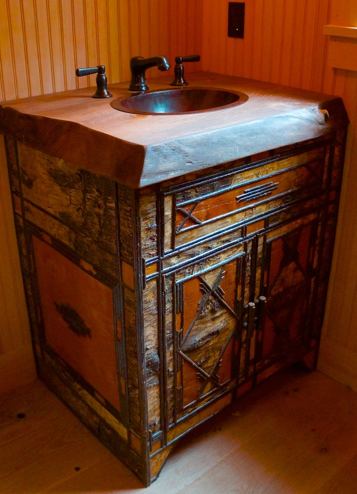 1000 images about birch bark on pinterest rustic for Adirondack bathroom design