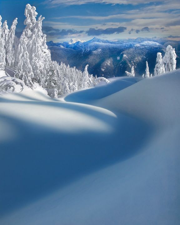 """""""Pathway To The Peaks"""" - an image from Mount Seymour Provincial Park in British Columbia, Canada (photo by Kevin McNeal, 1/20/2008)."""