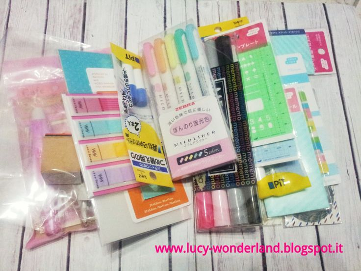 Lucy-Wonderland: haul from Hobonichi techo store #lucywonderland #filofax  #hobonichi #mildliner #zebra #highlighter #evidenziatori #memento #cocofusen #stickynotes #decorush
