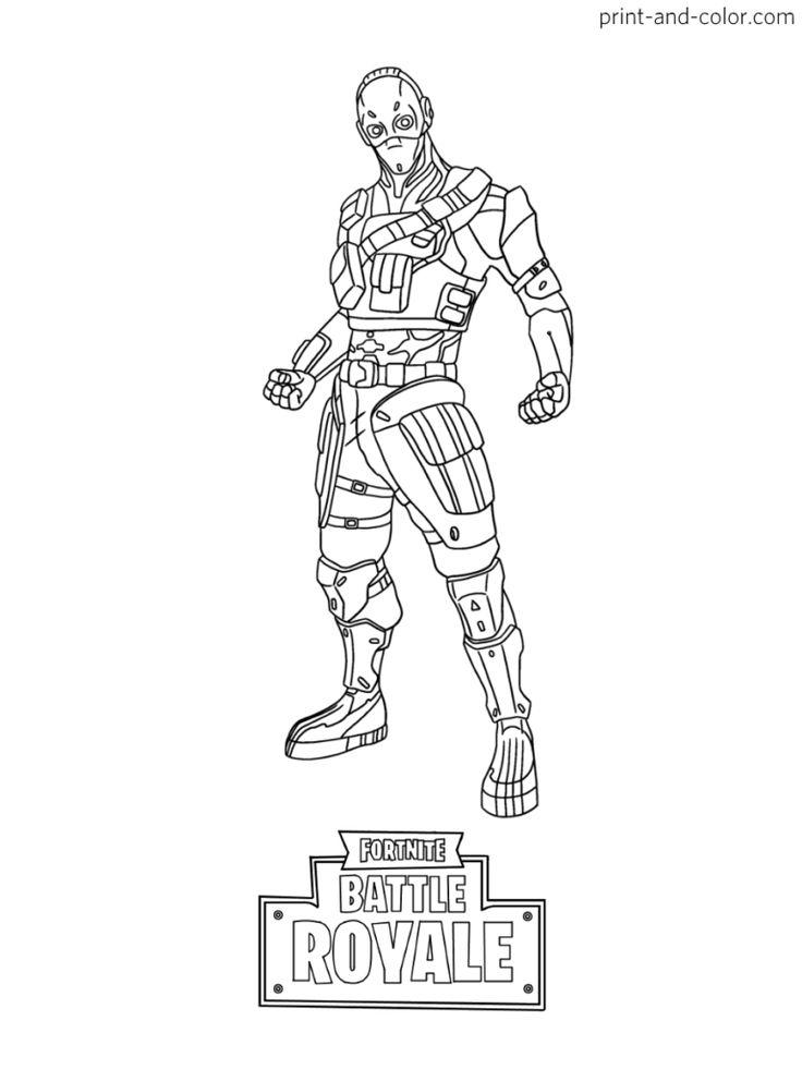 Fortnite Battle Royale Coloring Page Cobalt Skin Season 7