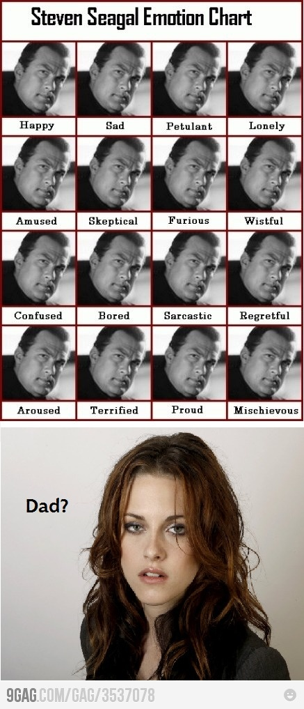 @Brianna McelfreshEmotional Charts, Laugh, Kristen Stewart, So True, Funny Stuff, Humor, Dads, Seagal Emotional, Steven Seagal