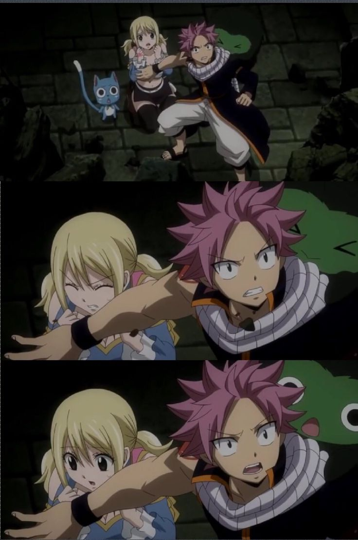 I love how she's scared, and then she sees Natsu's arm.