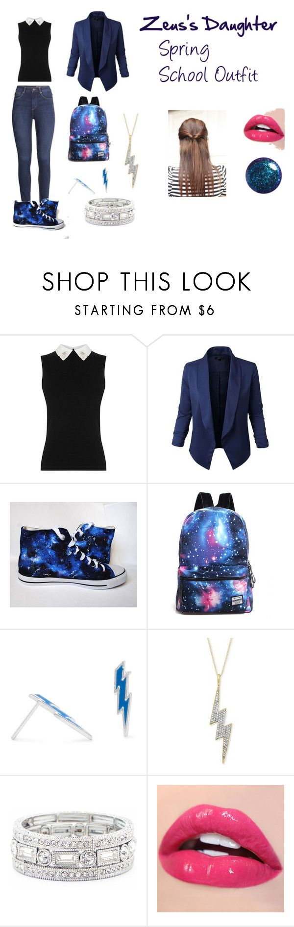 """Zeus's Daughter Spring #1"" by h-zita ❤ liked on Polyvore featuring Jupe de Abby, H&M, Wrapped, Sole Society, percyjackson, pjo and bookinspiration"