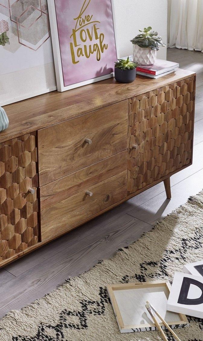 Akazienholz mit Mosaikoptik - Möbel - Serie • MOSAYK