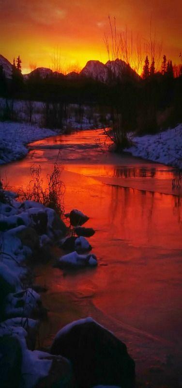 Sunrise Reflections #Anchorage, #Alaska by Carlos Rojas