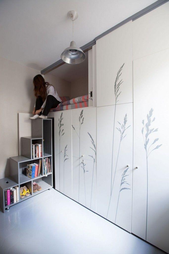Am nager une chambre de bonne de 8 m tres carr s id es d coration maisons micro apartment - Amenager une chambre de bonne ...
