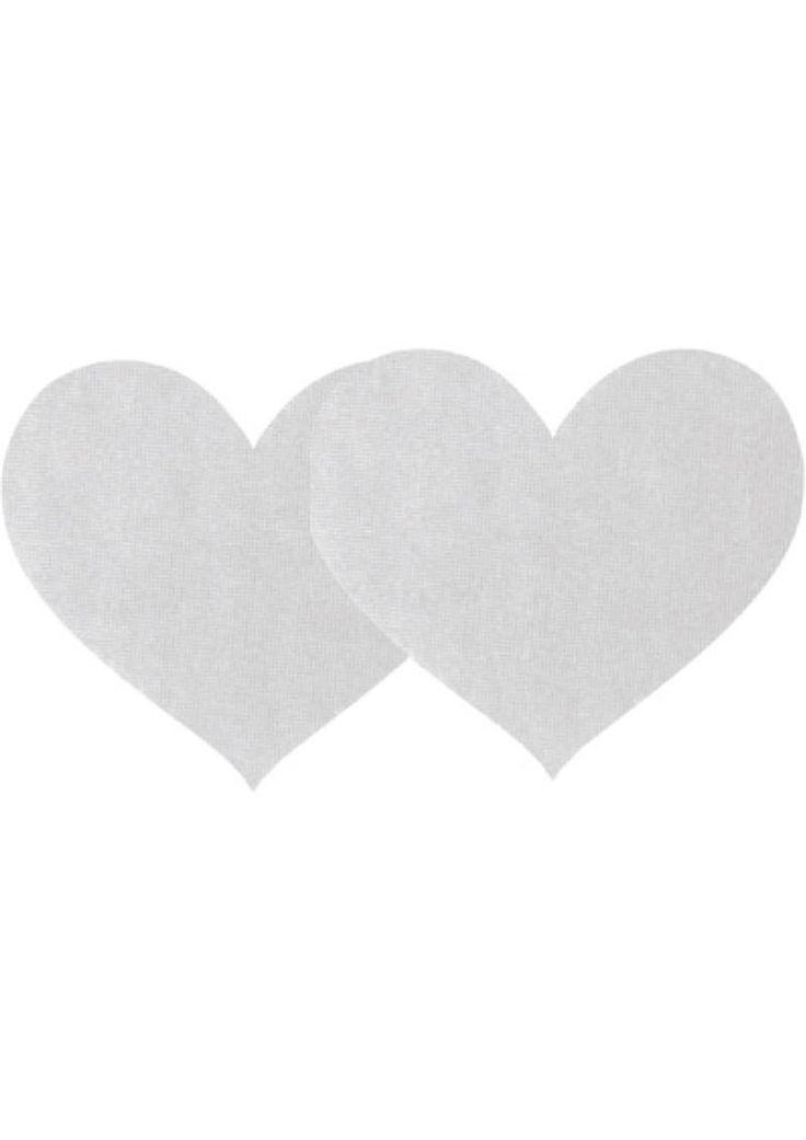 Buy White Satin Heart - 2pk online cheap. SALE! $8.99