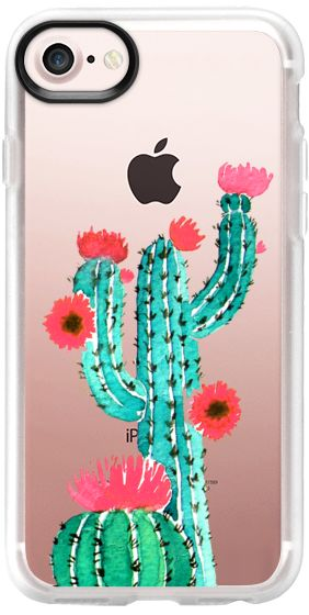 Casetify iPhone 7 Classic Grip Case - Cactus watercolor n.2 by Psychae  #casetify #casetifyartist