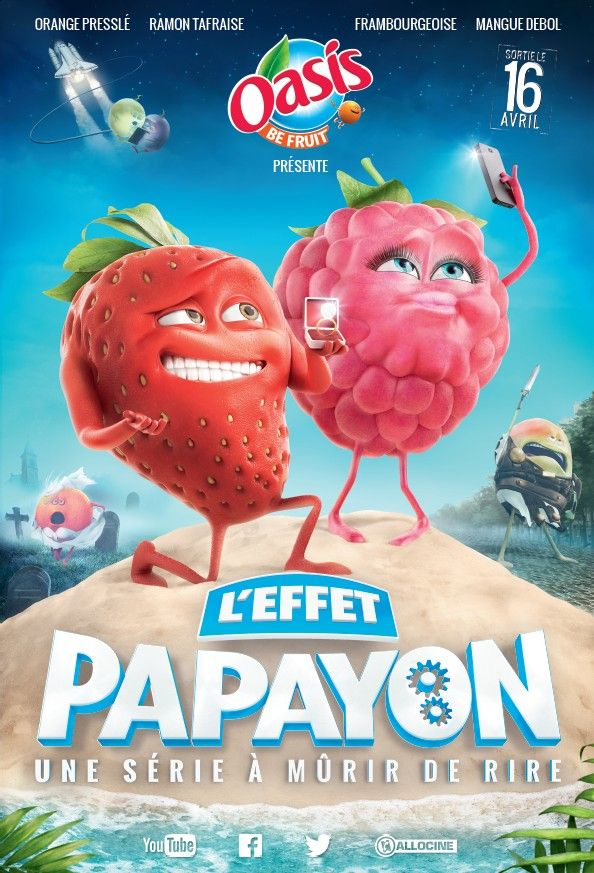 """Découvrez le 1er épisode de """"L'effet Papayon"""", la nouvelle websérie Fruitée par Oasis Be Fruit et aussi le site coquin #YouPomm qui va avec..."""