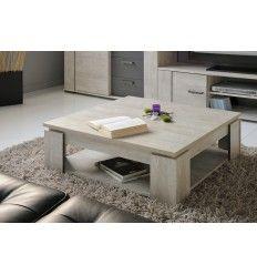 Table basse carrée contemporain TRAVEL coloris gris loft/ombre