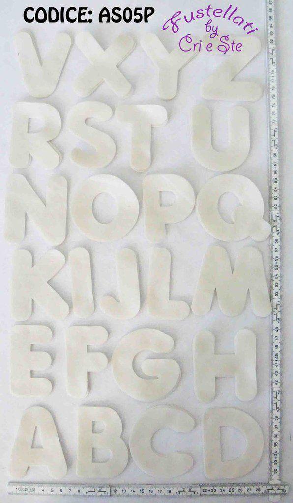 Alfabeto Grande Fustellato in Pannolenci  AS05P, by Fustellati, 0,50 € su misshobby.com