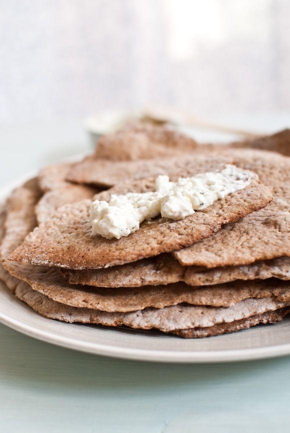 Homemade rye and spelt näkkileipä  (with cumin or sesame seeds)