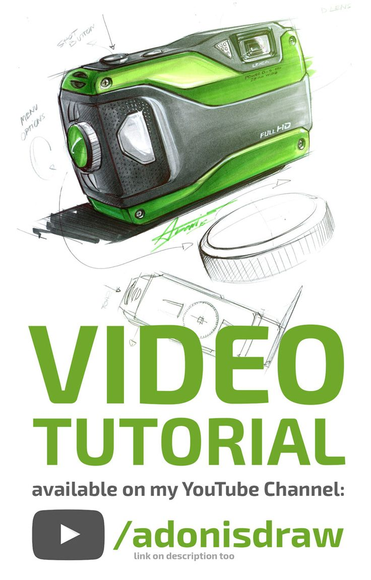 #2 SKETCH TUTORIAL by Adonis Alcici - Product Design >>> Link to the video: https://www.youtube.com/watch?v=qFioJ4ISorg&feature=youtu.be