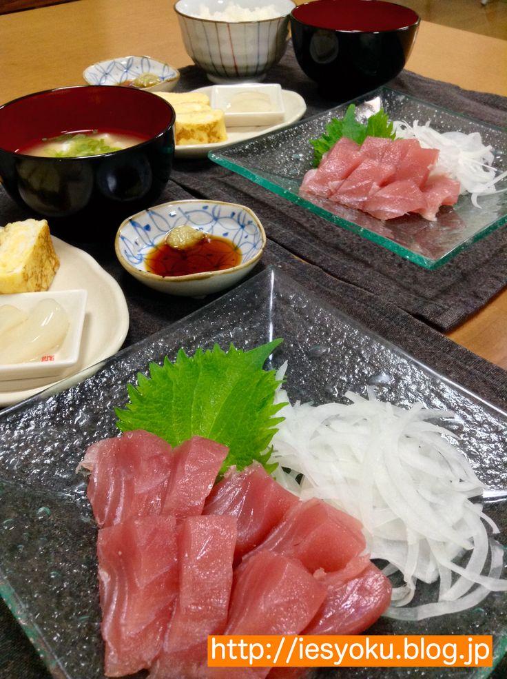 2015/5/2 夕食 種子島産シビマグロでお刺身定食