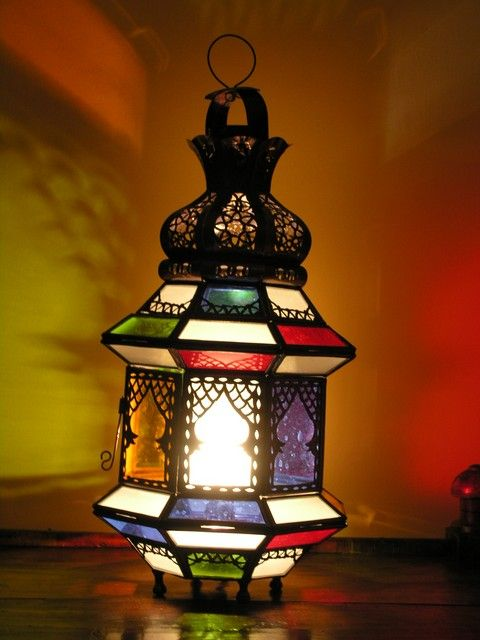 Moroccan iron and glass table top lamp. http://www.maroque.co.uk/showitem.aspx?id=ENT05697&p=00741