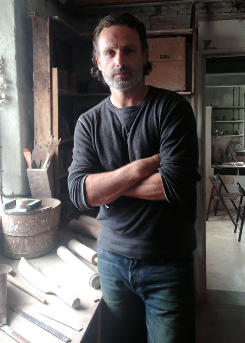Andrew Lincoln photographed at Leach Pottery in June 2016
