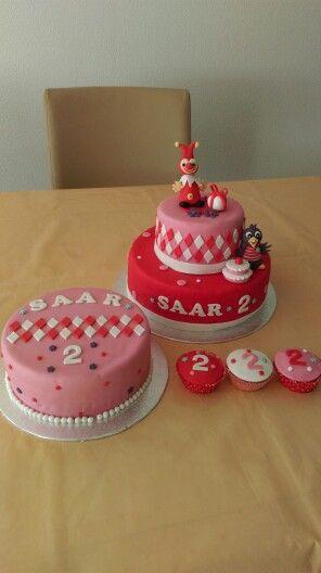Jokie en jet taart, cupcakes en bijpassende taart