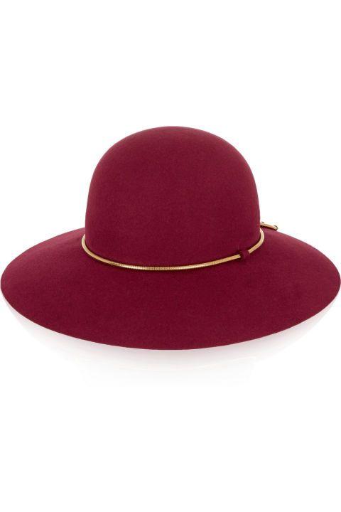 Lanvin Chain-Trimmed Rabbit-Felt Hat, $890; net-a-porter.com